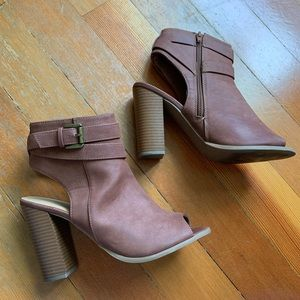 Charlotte Russe Open Toe Booties